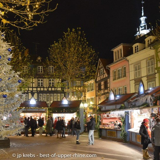 Little houses of the Christmas markets in Colmar, Alsace