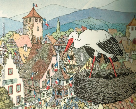 The white stork is part of Alsatian popular imagery.