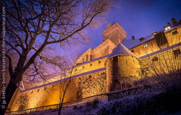 The Haut-Koenigsbourg castle is open all year round
