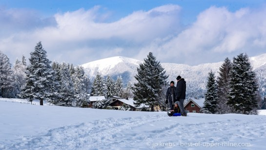 Walk in the snow at the Schnepfenried, family resort
