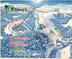 Map of Le Tanet ski resort