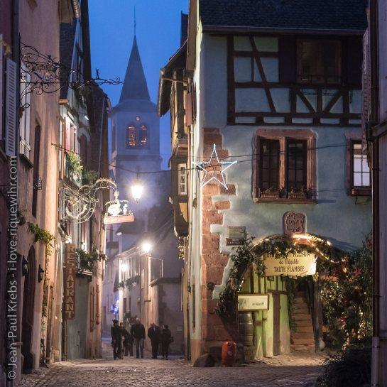 Riquewihr, a side street in December