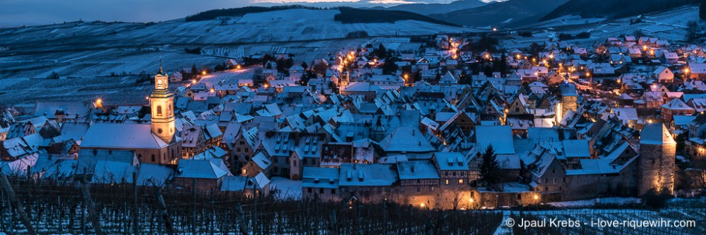 The OLD WINERY, LUXURY HOLIDAY ACCOMMODATION facing the Grand Cru Schoenenbourg vineyard in Riquewihr - Winter