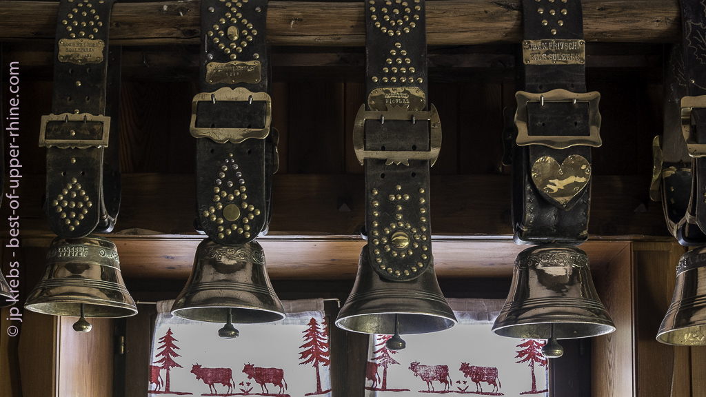 Farm-inn of Lac des Truites or Lac du Forlet. The bells carried by the cows during transhumance.