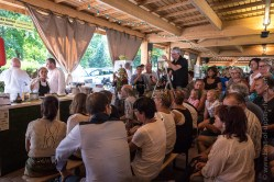 Cook show at the Wine and Gastronomy festival end of July.