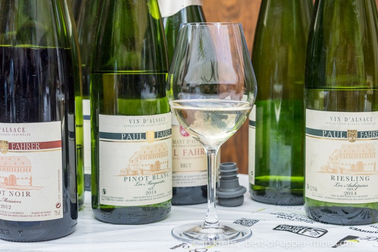 The wines of the Domaine Paul Fahrer in Orschwiller are regularly rewarded. I really like his bottles of pinot noir and Cremant Blanc de Noirs.