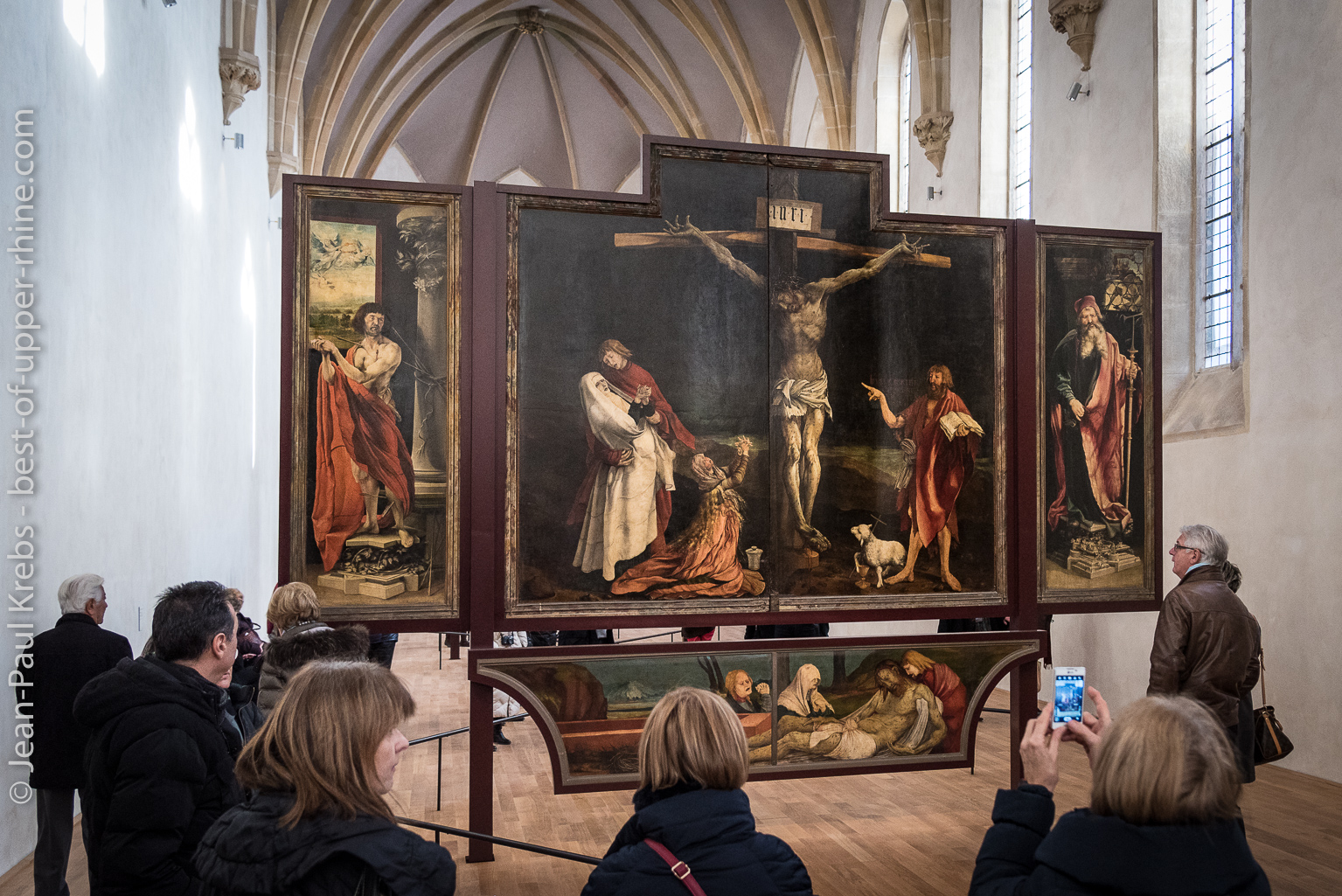 The famous Retable (altarpiece) of Issenheim painted in the 16th Century and presented at the Unterlinden museum.