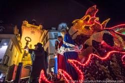 Carnival night parade in Sélestat.