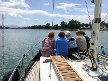 Cruise on the Rhine near Breisach-am-Rhein