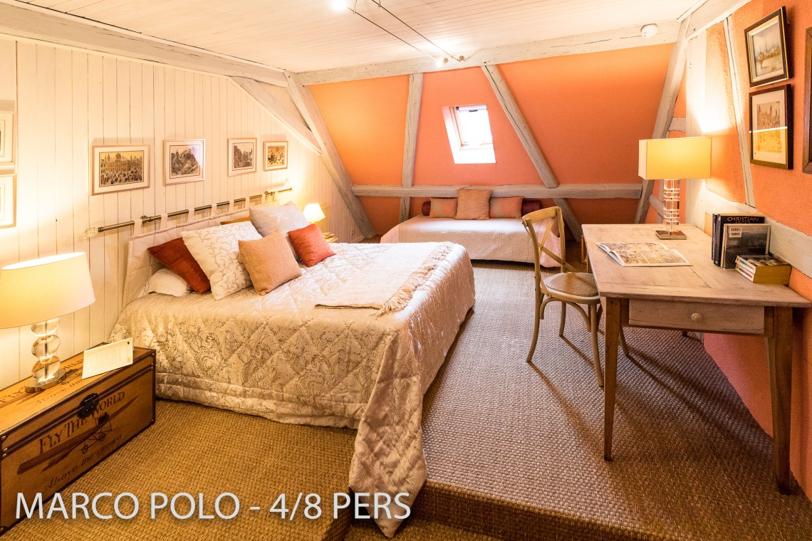 One bedroom of the Marco-Polo, Sumptuous and spacious holiday home in Riquewihr for 6 persons