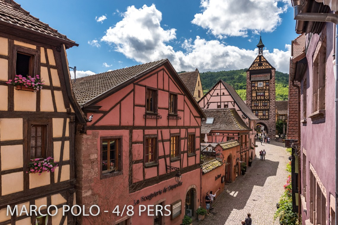 View on the Main Street of Riquewihr from the living room in Marco-Polo, Sumptuous and spacious holiday home in Riquewihr for 6 persons