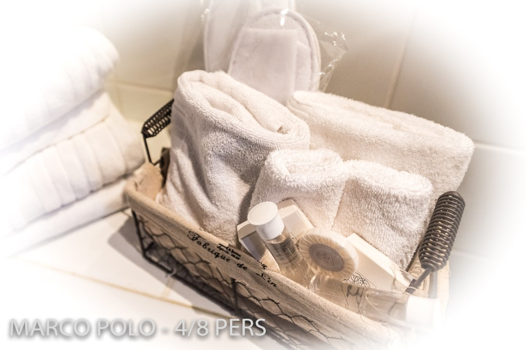 The towels and bathroom equipment in Marco-Polo, Sumptuous and spacious holiday home in Riquewihr for 6 persons