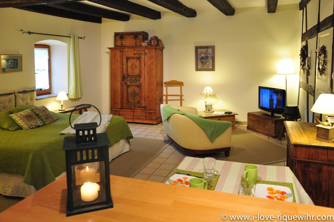 The main room of the sylvaner, charming holiday apartment for 2 persons in Riquewihr Alsace
