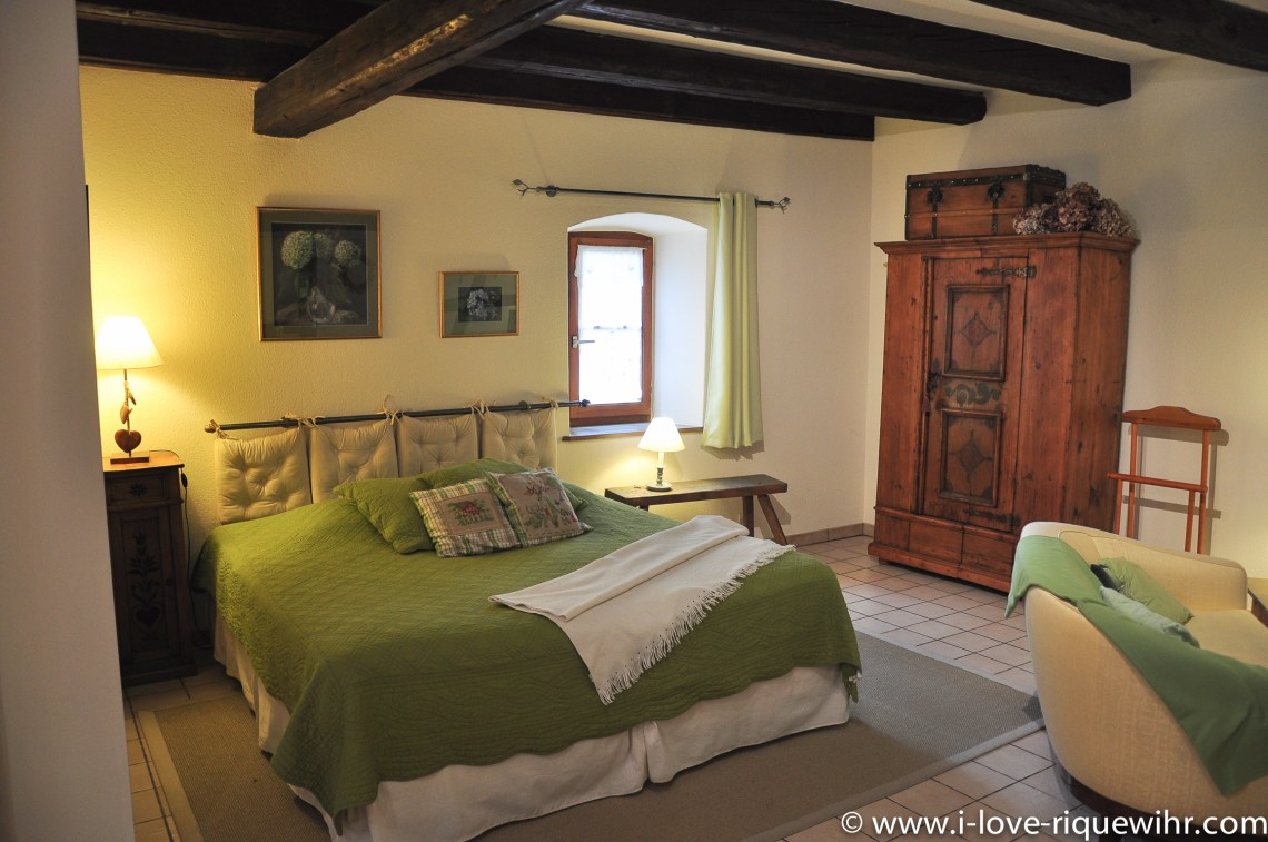 The bed of the sylvaner, charming holiday apartment for 2 persons in Riquewihr Alsace