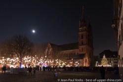 Basel Christmas market at the cathedral
