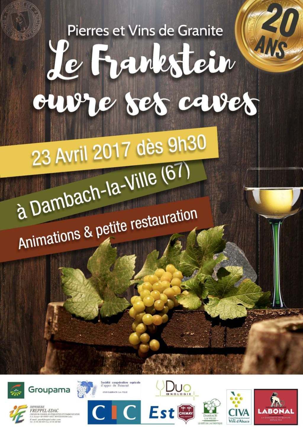 Poster of the 20th edition of Stones and Granite Wines in Dambach-la-Ville