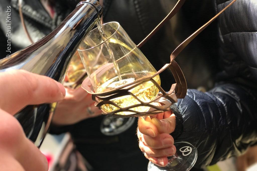 Tasting of a Blienschwiller winemaker's white wine