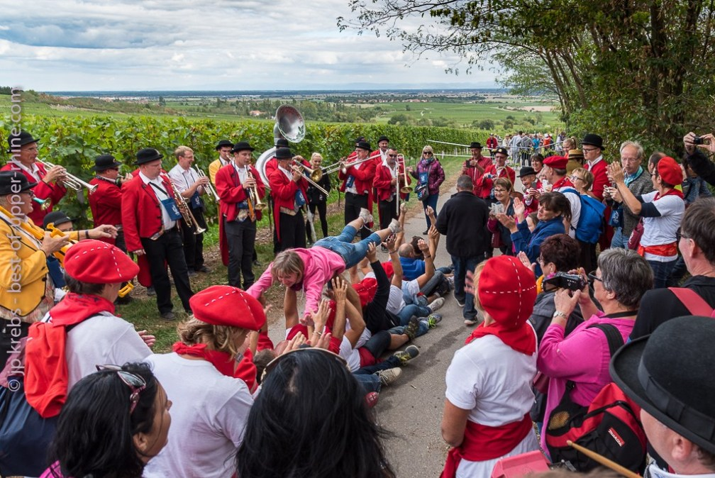 The gourmet trail of Scherwiller: big atmosphere on the stages of the course!