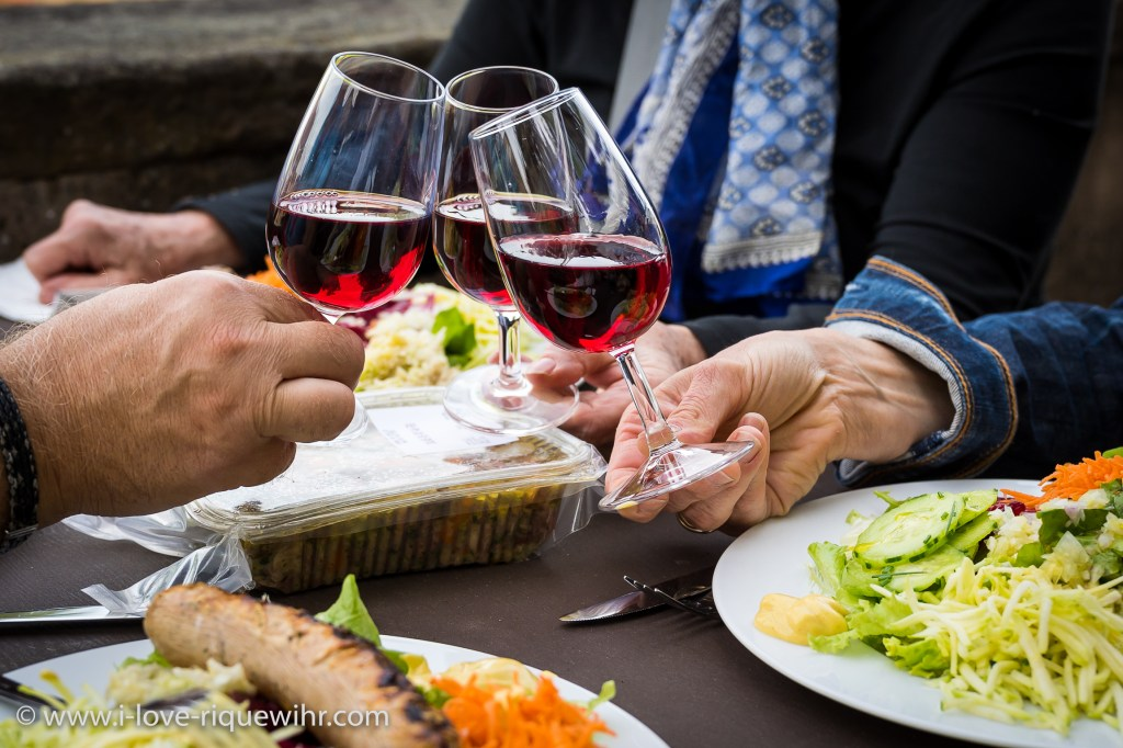Summer Tuesday grill party in Riquewihr, Alsace