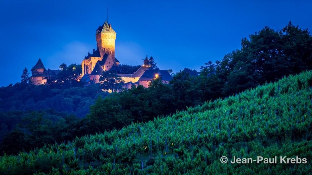 The famous Haut-Koenigsbourg castle in Alsace