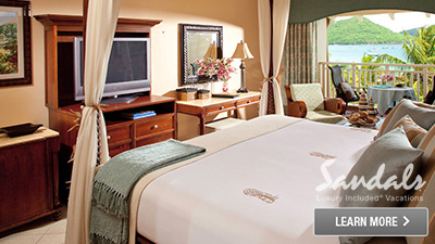 Sandals Halcyon Beach St. Lucia beachfront hotel