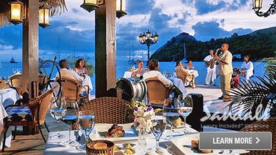 Caribbean all inclusive resort food