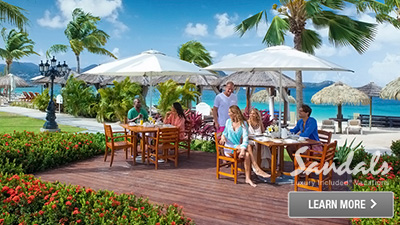 Sandals Grande St Lucian top restaurants