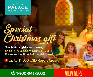 palace resorts christmas gift vacation deals