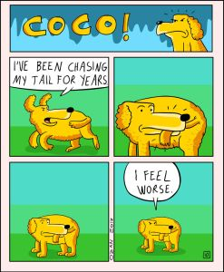 coco the dog ozan draws comics 10 5a38c8cb9f1f0 png  700 247x300 - 17 Hilariously Pessimistic Comics About Coco The Jolly Dog That Every Pessimist Will Relate To