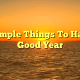 20 Simple Things To Have A Good Year