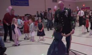 military sergeant escorts little girl to daddy daughter dance after her father dies - Military Sergeant Escorts Little Girl To Daddy-Daughter Dance After Her Father Dies