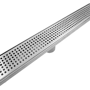 Stainless Steel Linear Drain Shower - 30 to 36 Inch