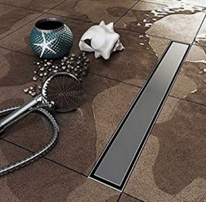 HANEBATH Stainless Steel Tile Insert Linear Shower Channel Drain - 24 to 40 Inch - FREE SHIPPING