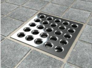 Beau Ebbe E4401 Square Shower Drain With Grate And Hair Trap