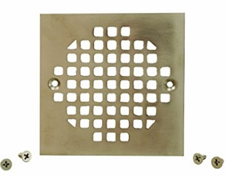 Plumbest C60 83BN Brass Square Shower Strainer Cover Brushed Nickel