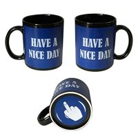 Blue Have a Nice Day Coffee Mug | Middle Finger Funny Cup ...