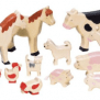 Cute Wooden Farmyard Sets Best Toys For 2 Year Old