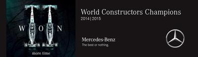 mercedes world constructors champions f1