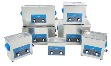 stack of GT sonic ultrasonic cleaners with dial adjustments