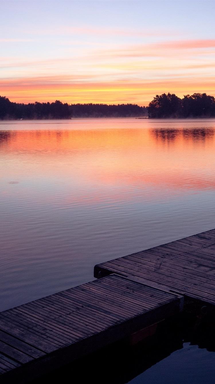 1280x800 Fall Hd Wallpaper Wallpaper Sunset Lake Dock 2560x1600 Hd Picture Image