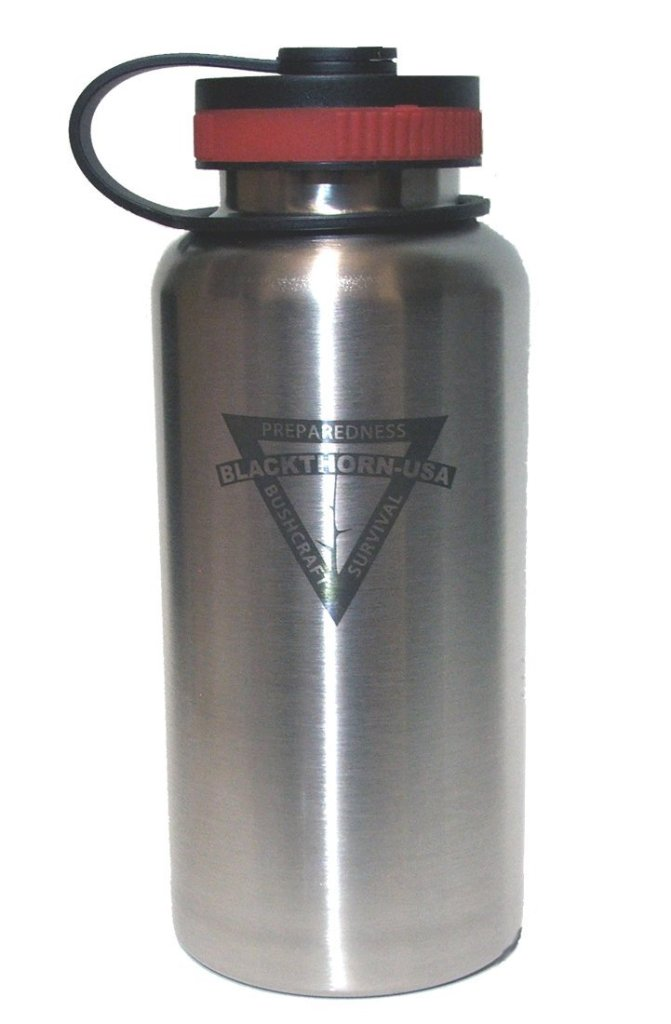 Blackthorn bottle, is a true stainless steel water bottle, and it is made in the USA.