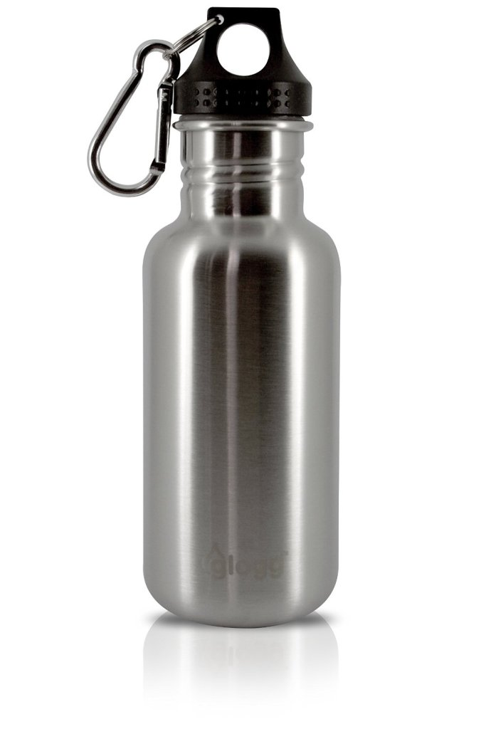 Glogg wide neck metal water bottle