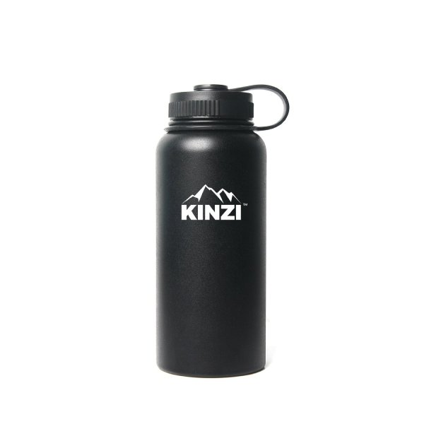 The black coated Kinzi bottle is one of the best water stainless steel water bottle.