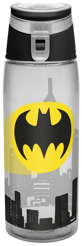 The Batman water bottle will keep you safe at night, or at least your kids.