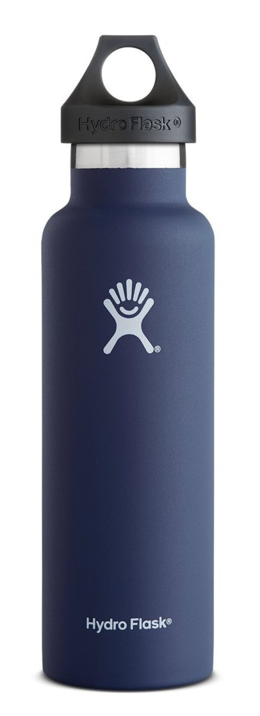 The hydro flask in the best metal water bottle this one is in blue.