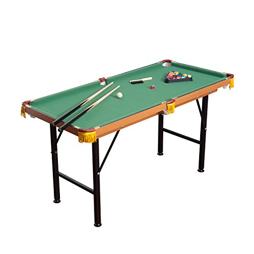 The First Pool Table On Our List Is The HomCom Folding Miniature Table.  Available For A Very Reasonable Price, This Table Offers Tons In The Way Of  ...