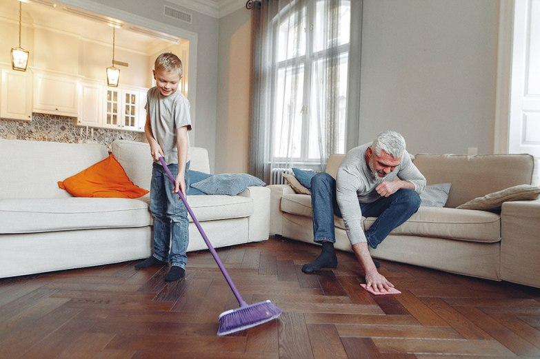 how to clean floors with natural products