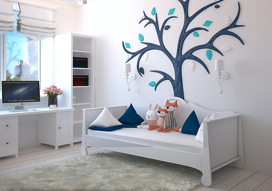 kid playroom wall decor
