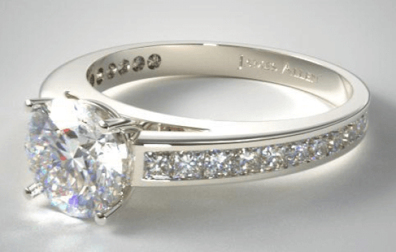 Best Custom Engagement Rinf - Channel Ring Setting Round Cut 1 Carat Diamond Ring