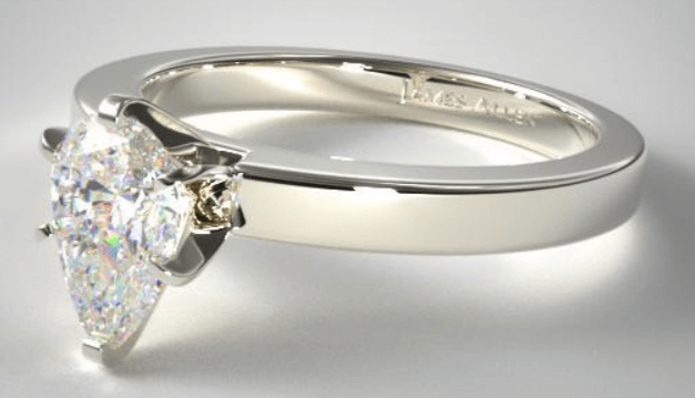 Solitaire Ring Setting With Pear Shape Diamond